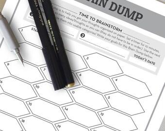 Brain Dump Printable | Weekly Planner Insert | Weekly planner printable, to-do list, weekly docket, brain dump insert, planner insert