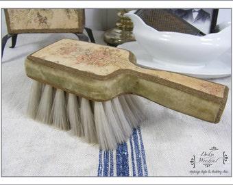 Français antique brosse textile - décoration de maison de pays