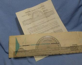 Vintage Weems Mark ll Plotter with original envelope and instruction sheet