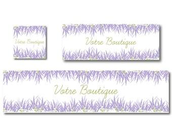 Lavender Facebook and Etsy Shop banner