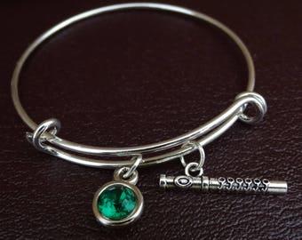 Flute Bracelet, Flute Bangle, Flute Charm, Flute Pendant, Flute Jewelry, Flute Instrument, Flute Gifts, Flute Player, Flutist Bracelet,Music