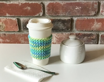 Crochet Coffee Cozy - Reusable Coffee Sleeve - Gifts for Best Friends - Teacher Gift - Cup Sleeve - Crochet Coffee Cup Cozy - Eco-Friendly