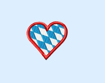 Embroidery pattern - bavarian heart