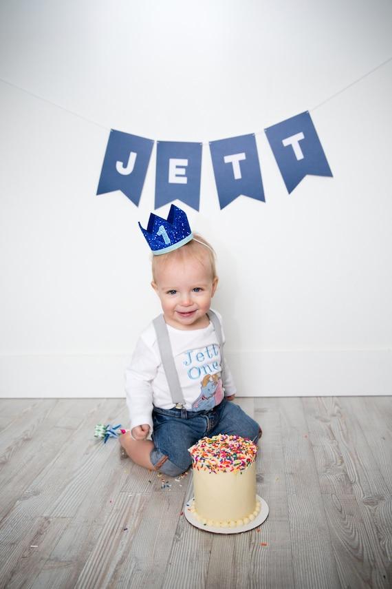 1st Birthday Boy Crown First Birthday Boy Smash Cake Outfit