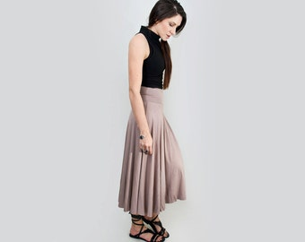 Midi Skirt • High Waist • Women's Full Skirts • Petite and Tall Length • Ethically made in our USA loft • L415 & Co Clothing (# 415-103)