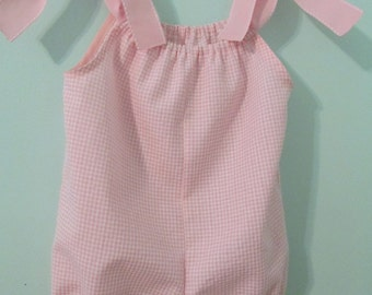 Baby Girl Bubble Suit  Romper Sun suit    One Piece Play suit Monogrammed Romper