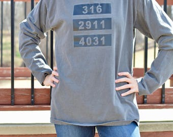Scripture Reference Comfort Colors Hooded T Shirt - John 3.16 - Jeremiah 29.11 - Isaiah 40.31 - Comfortable Hooded Shirt - Blessed Shirt
