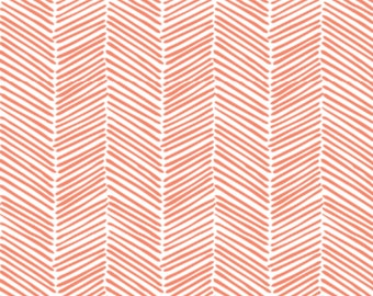 Baby Swaddle   Coral Herringbone Swaddle, Coral Blanket, Coral Swaddle, Arrows, Tribal Swaddle, Woodland Swaddle, Tribal Blanket, Baby Girl