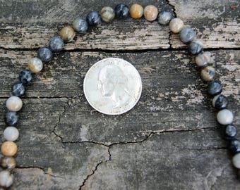 6mm Round Picasso Jasper Gemstone Beads (8 inch strand)