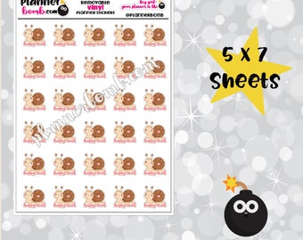 Vinyl Snail Mail Removable Planner Stickers