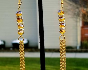 Elegant long chain earring