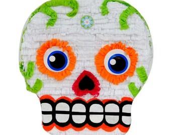 Sugar Skull Dia de los Muertos Day of the Dead Piñata 16X14X5 inches