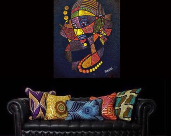 African Art canvas print wall hanging for your wall space ready to display (new)
