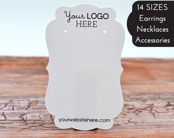 Custom Earring Cards with Your Logo Jewelry Display Cards Fancy Die Cut Design Tags