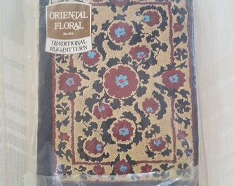 ORIENTAL RUG KIT by Aunt Lydia including canvas, Punch Needle and instructions.  Finishes to 24 x 36 inches