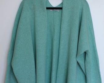 Soft Merino Lambswool Box Jacket Mint Blue