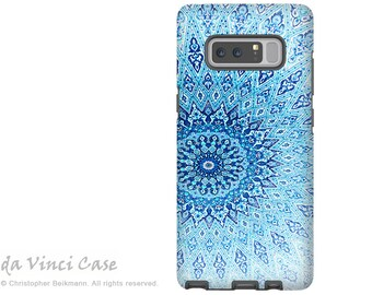 Blue Mandala Galaxy Note 8 Case - Zen Case for Samsung Galaxy Note 8 with Artwork - Cloud Mandala - Premium Dual Layer Case