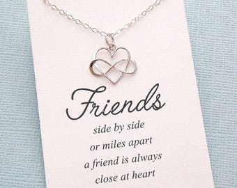 Best Friend Gift | Infinity Necklace, Friendship Necklace, Best Friend Necklace, Friends Friendship Gift, Best Friend Necklace, Sister | F04