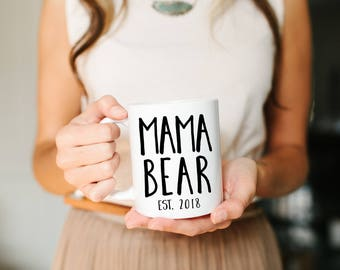 Mama Bear, Personalized Mom Mug, custom Mom Mug, Momma Mug, Mom Mug, New Mom Gift, Mama Bear Mug, New Mom Gift, Mom Gift, Personalized Mug