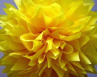 LEMON tissue paper pompom sailor moon party decoration wedding aisle marker bumble bee first birthday primary yellow superhero little prince