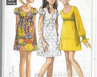 Simplicity 7631 Misses' Dress in Two Length Bust 32 1/2 inch