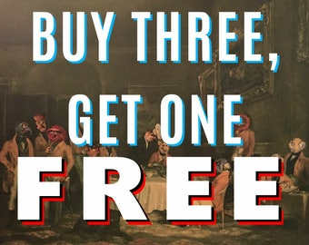 Buy Three, Get One FREE - Your Choice - Pop Culture Parodies Dave Pollot - Repurposed Thrift Art -  Prints Posters Canvas Pop Culture Art L2