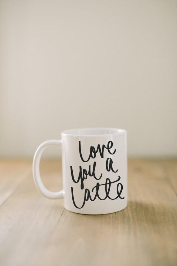 Lieben Sie Keramik-Becher einen Latte Kaffee Tasse