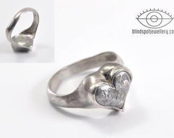 Heart ring - silver, lead