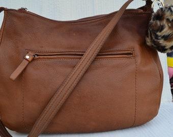 Leather Crossbody Bag Vintage   Hippie Bag Bohemian Pocketbook Purse