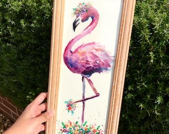 Floral Flamingo Print