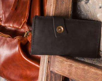 Wallet,Leather iphone purse,Coin leather wallet,Leather passport wallet,Leather wallet for him,Black leather wallet men,Mens bifold wallet