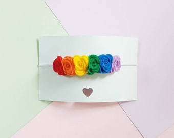 Rainbow flower headband / Rainbow baby headband / Rainbow baby crown / Rainbow baby gift / Newborn headband / Baby crown / Toddler headband