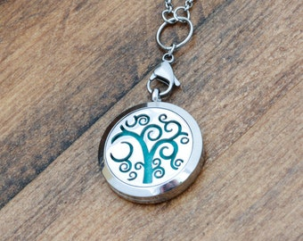 Aromatherapy Jewelry - Essential Oil Diffuser Necklace for Women - Diffuser Jewelry - Aromatherapy Necklace - Steel Diffuser Locket