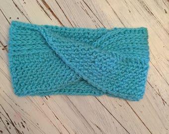 Twisted crochet earwarmer headband