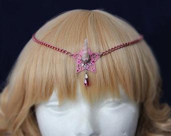 My little pony inspired Princess unicorn circlet -Pink mini lady unicorn tiara