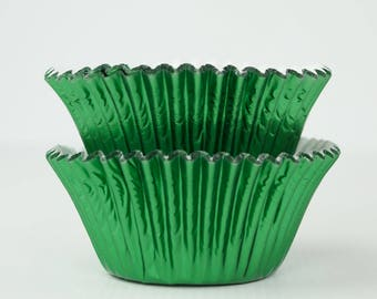 Metallic Green Foil Cupcake Liners Baking Cups- 45 Ct.  Baking Cases, Christmas Cupcakes, Holiday Party