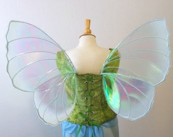 Organic Pale Blue Butterfly Iridescent Fairy wings Medium