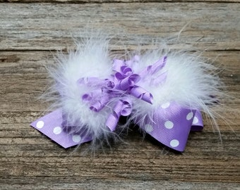 Medium bow with curly and marabou
