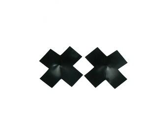 Cross Shaped Latex Nipple Pasties