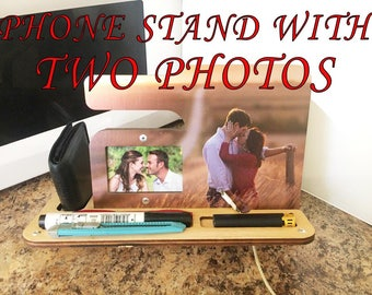 Phone Stand - Charging Station - Cell Phone Stand - Docking Station - Cell Phone Holder - Phone Holder - Phone Stand Wood -Tech Gift Photo