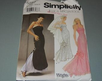 Uncut 4-10 Simplicity 5237 JESSICA MCCLINTOCK Pattern