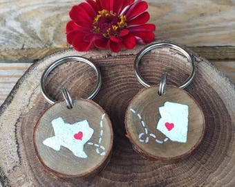 His and Her Keychain |Couple Keychain| Long Distance Relationship | Long Distance Relationship Keychain | best friend long distance keychain