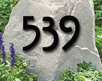 Set of 4 Mission Style House Numbers or Letters / 2 Inch up to 8 Inch / Address / Metal / Business / Colored / Office / Powder Coated