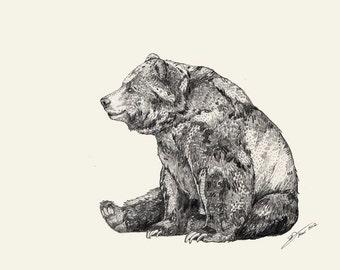 BEAR // Signed A3 print