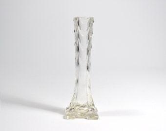 Glass vase Art Nouveau (art nouveau) style antique