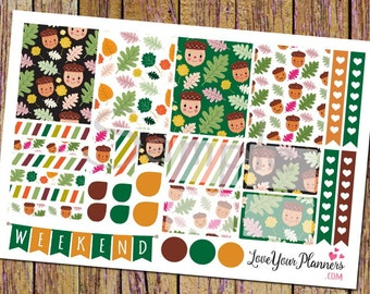 SWEET NATURE Planner Stickers Weekly Planner Stickers Functional Stickers Vertical Planner Hearts Checklist Stickers Weekly Stickers 119