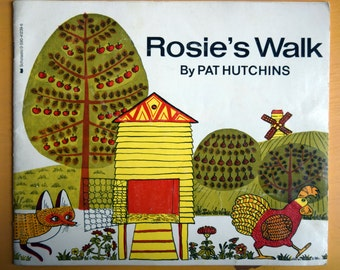 Rosie's Walk/Pat Hutchins/Scholastic/Illustrated Children's story about a Chicken and a Fox/paper back kid's story from Scholastic
