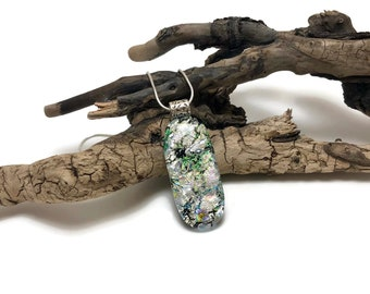 glass, jewelry, dichroic glass pendant, dichroic, Dichroic Pendant, Fused Glass Jewelry, handmade dichroic glass, glass pendant, glass