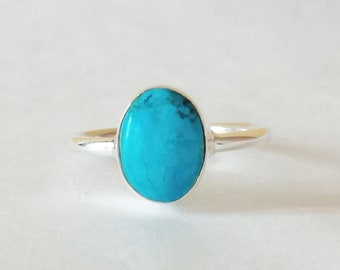 Turquoise Ring , 925 Sterling silver ring , Handmade Ring, silver ring , Sterling silver Turquoise ring