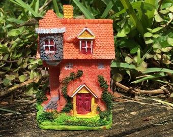 Miniature Whimsical Fairy House, Fairy Garden House, Colorful House